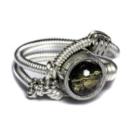 Steampunk jewelry Ring smoky by CatherinetteRings