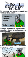 Meet the Tellek:  Mass Effect OC Meme by fakefrogs