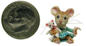 Mouse Furred 2013 by WEE-OOAK-MINIATURES