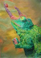 chameleon in acryl by Pentragon1990