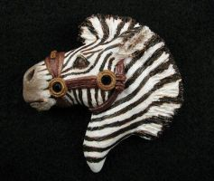 Zebra pin by twistedcreaturesart