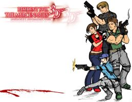 Resident Evil 3D Mercenaries by redfield37