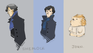 Sherlock and John as pictured. by vanipy05