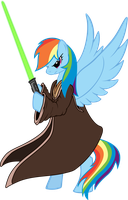 RainbowDashJedi by FabulousPony