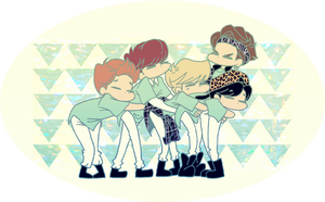 SHINee hug by Pulimcartoon