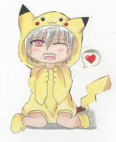 Chibi Clear +  Pikachu Outfit = KAWAII!!! by DarkPitFan2012