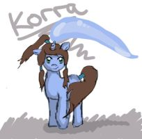 Korra as a pony :O by bronwynkaren
