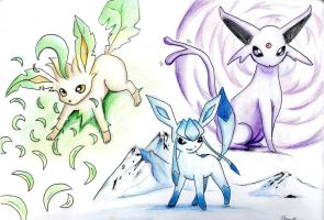 Eevee evolutions: Part 2 by tourettesz