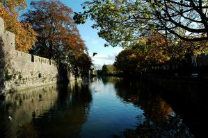 Autumn Coming to the Moat by EarthHart