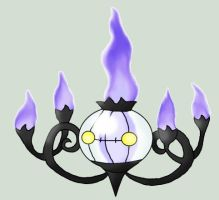 Chandelure - Shanderaa by GreenGamerJ