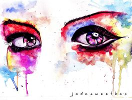 Eye Study Watercolor II by jadelizabeth