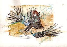 watercolor + ink by tomoki-chan