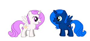 Tia and Woona with their cutie marks by TobyandMavisforever