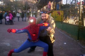 Fighting Crime With Spidey... by lordmagnusen