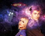 Doctor Who Wallpaper - 10th Doctor and Rose by WERA1166