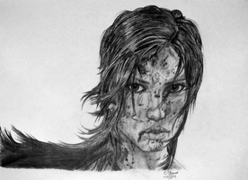 Lara Croft Drawing - Fan Art - LethalChris by LethalChris