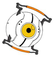GLaDOS Curiosity Core by PhantasmaStriker