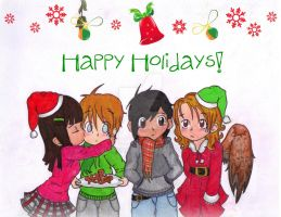 Maximum Ride Happy Holidays by AliAvian