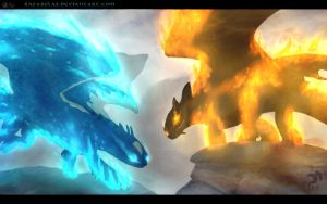 Fire and Ice (Gift) by RafaBolas