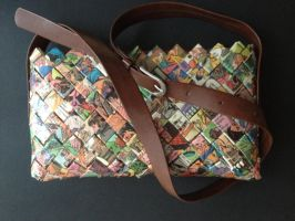 Purse with handle, Ponny 11 by SecondChanceCrafts