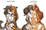 Flora and Kathrin Style Comparison 2008 - 2014 by Twokinds