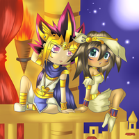 Commission part 2: Atem x Mana by Valorie-Sonsaku