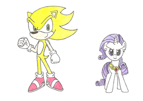 Sonic and Rarity - Super Forms 2 by PhantomShadow051