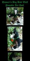 Disneys Big Bad Wolf Posable Doll by Eviecats