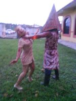 pyramid head and nurse 7 by UltharCosplay