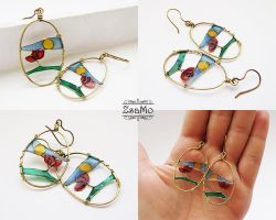 Meadow in Sunshine Earrings by Zsamo