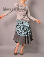 Blue Victorian Pleated Skirt 2 by yystudio