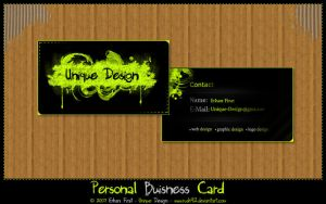 Personal Business Card by rush92