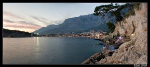 Makarska - Panorama by Klek