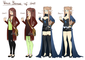 Vana Bourne - Ref sheet by LotusLumino