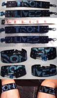Tron Lives Bracelet Set by wickedorin