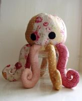 Custom octopus plushie by JesterofEvil
