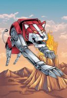 Voltron Red Lion by seanforney
