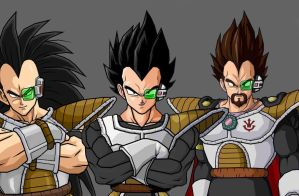 My Favorite Saiyan's by kingcrackrock