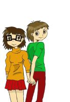 Shaggy and Velma by scoobyqueen12