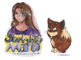 Marti- and ChibiFaelis-Badge by StarlightsMarti
