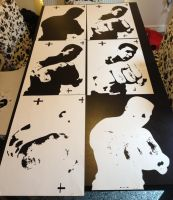 Muhammed Ali - Handcut Multilayer Stencils by RAMART79