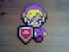 Purple Link Perler Fanart by SuzuriHeinze