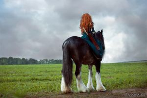 Brave - Merida and Angus_3 by GreatQueenLina