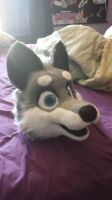 Wolf/Husky fursuit head FOR SALE [SOLD] by Miukii-Asu
