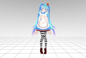 MMD Tda Miku Alice Ver 2 Download !! by InoriAruma