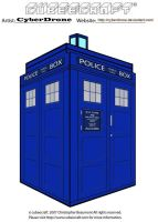 Cubeecraft - TARDIS '1980s' by CyberDrone