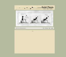 Quiet Places - Site Mockup 3 by ZacharyHogan