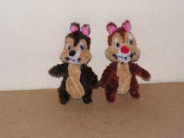 Chip and Dale by fuzzyfigureguy