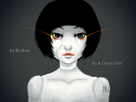 Broken China Doll by Sa-tou