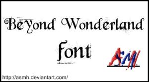 Beyond Wonderland Font by ASMH